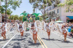 O Colorido e a Ginga Brasileira no Santa Barbara Summer Solstice Parade de 2018