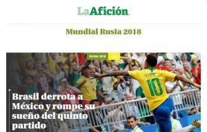 """""""Não Tem Quinto Jogo"""": Imprensa Mexicana  Noticia o Sonho Interrompido"""