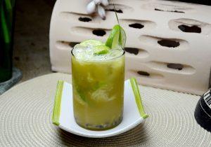 Lime and Mint Caipirinha